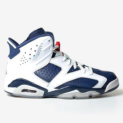 reputable site b5387 efc14 Air Jordan 6 Retro Olympic 2012 White Midnight Navy Red VI Nike 384664-130