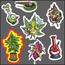7x Marihuana Aufkleber set vinyl Sticker bmx skate decal cannabis marijuana weed
