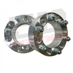 "2 Qty 6X5.5 Wheel Spacer 6 Lug 6X139.7 2"" Acura Cadillac Chevrolet GMC Hummer"