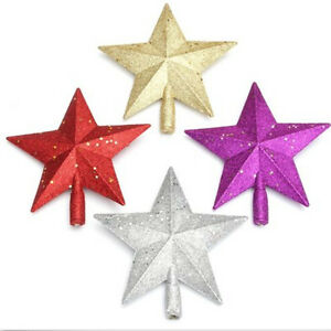 Sparkle 3d star design christmas tree top topper for 3d star decoration