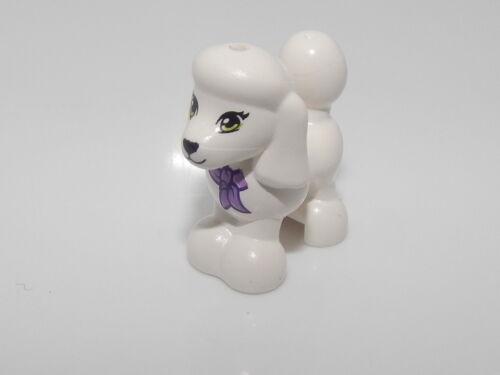 Lego Dog White Poodle with Purple Bow,