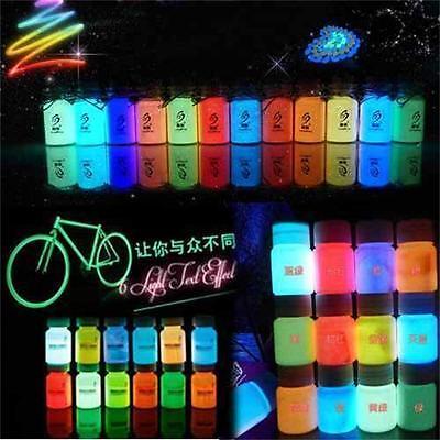 20g Glow in the Dark Pigment Craft DIY Acrylic Luminous Bright Paint Party Decor