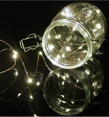 Candido Set 50 Led Cool White Fata Decorativo Filo Di Rame Luci Di Natale Xmas Indoor-mostra Il Titolo Originale