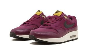 low priced 410cf f9bcd Image is loading Nike-Air-Max-1-Premium-Bordeaux-Black-Desert-