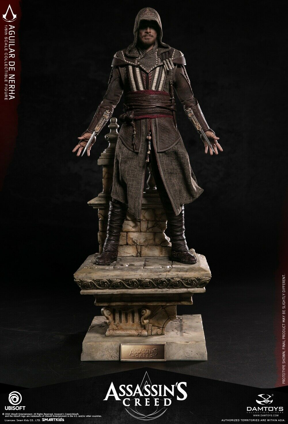 DAM TOYS DMS006 Assassin's Creed Movie Aguilar 1 6 Figure with Base IN STOCK