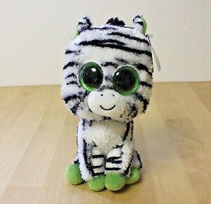 "Ty Beanie Boo 6"" Zig-Zag the Zebra Birthday June 14 MWMT RETIRED ... 258b94b8955"