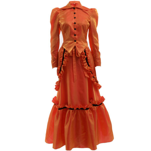 Blessume Women Steampunk Edwardian Dress Vampire Ball Gown Industrial Age Dress