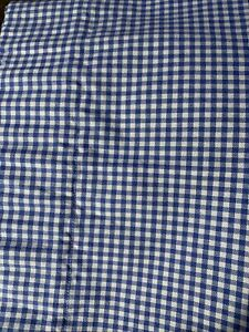 Pottery-Barn-Kids-Blue-White-Gingham-Check-Valance-Curtain-18x50