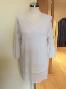 Riani Bnwt Size 14 £67 Fine Top £149 Now Rrp Cream Knit HrHqtBwAx