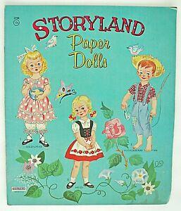 STORYLAND-PAPER-DOLLS-Original-Vintage-Saalfield-1950-s-UNCUT-2798