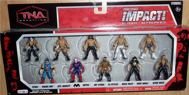 TNA Jakks Pacific impacto lucha libre figura 10 Pack Exclusivo Micro