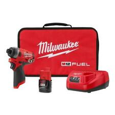 """Milwaukee 2553-21 M12 Fuel 1/4"""" Hex Impact Driver 2.0 Battery Kit"""
