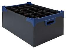 Stacking Glass Storage Boxes 24 Compartment Pk 5 Fits 24 x 12oz Nonic & Hiballs