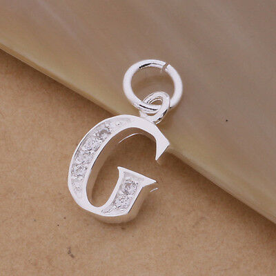 Best Gift Alphabet Lady Solid 925Silver Jewelry Letter Pendant Fit Necklace +box