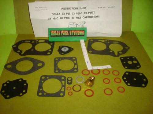 CARBURETOR REBUILD KIT SOLEX JAGUAR 6CYL 1956 1957 1958 1959 1960 1961