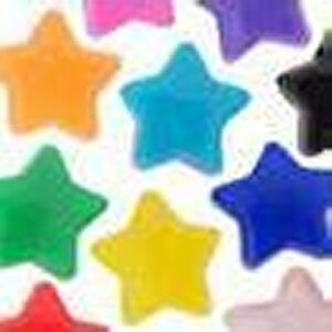 Opaqu-Star-Pony-Beads-Single-Colour-Choose-Quantity-Size-approx-13mm