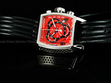 Invicta Men Tonneau S1 Rally Viking Red Swiss Made ETA Chrono Strap SS Watch