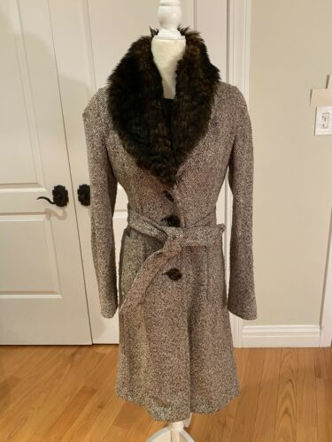 Banana Republic Tweed Winter Wool Coat Small Jacke