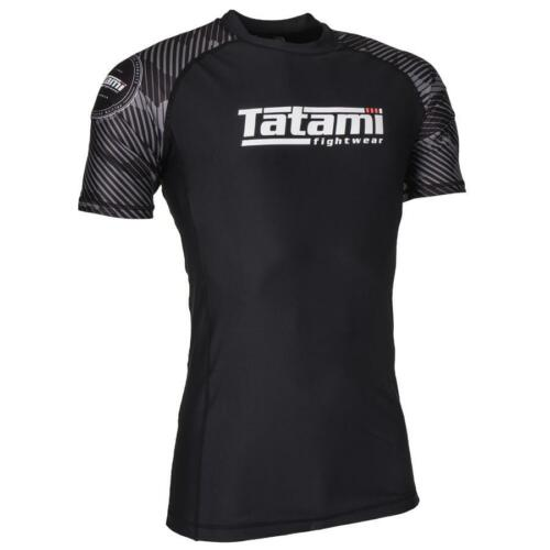Tatami Renegade Grey Mens BJJ Rash Guard Short Sleeve Jiu Jitsu Compression MMA