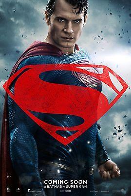 Gadot v4 - Henry Cavill 24x36 Batman v Superman Dawn of Justice Movie Poster