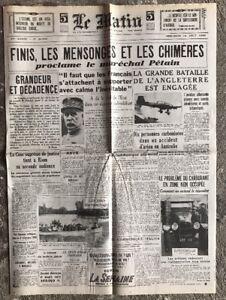 N21-La-Une-Du-Journal-Le-Matin-14-Aout-1940
