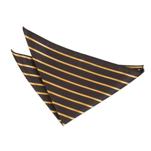 black-gold Single Stripe Handkerchief