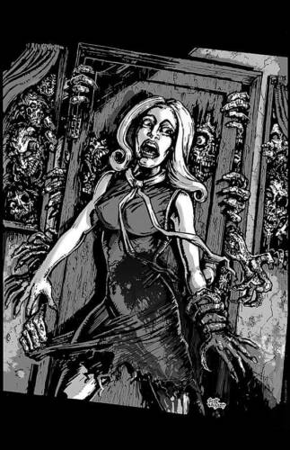 NIGHT OF THE LIVING DEAD ART POSTER PRINT HOUSE OF ZOMBIES HORROR MOVIES ROMERO