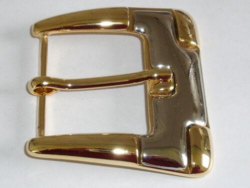 Gürtelschnalle Schließe Schnalle  3,9 cm gold silber NEU rostfrei 0218.1