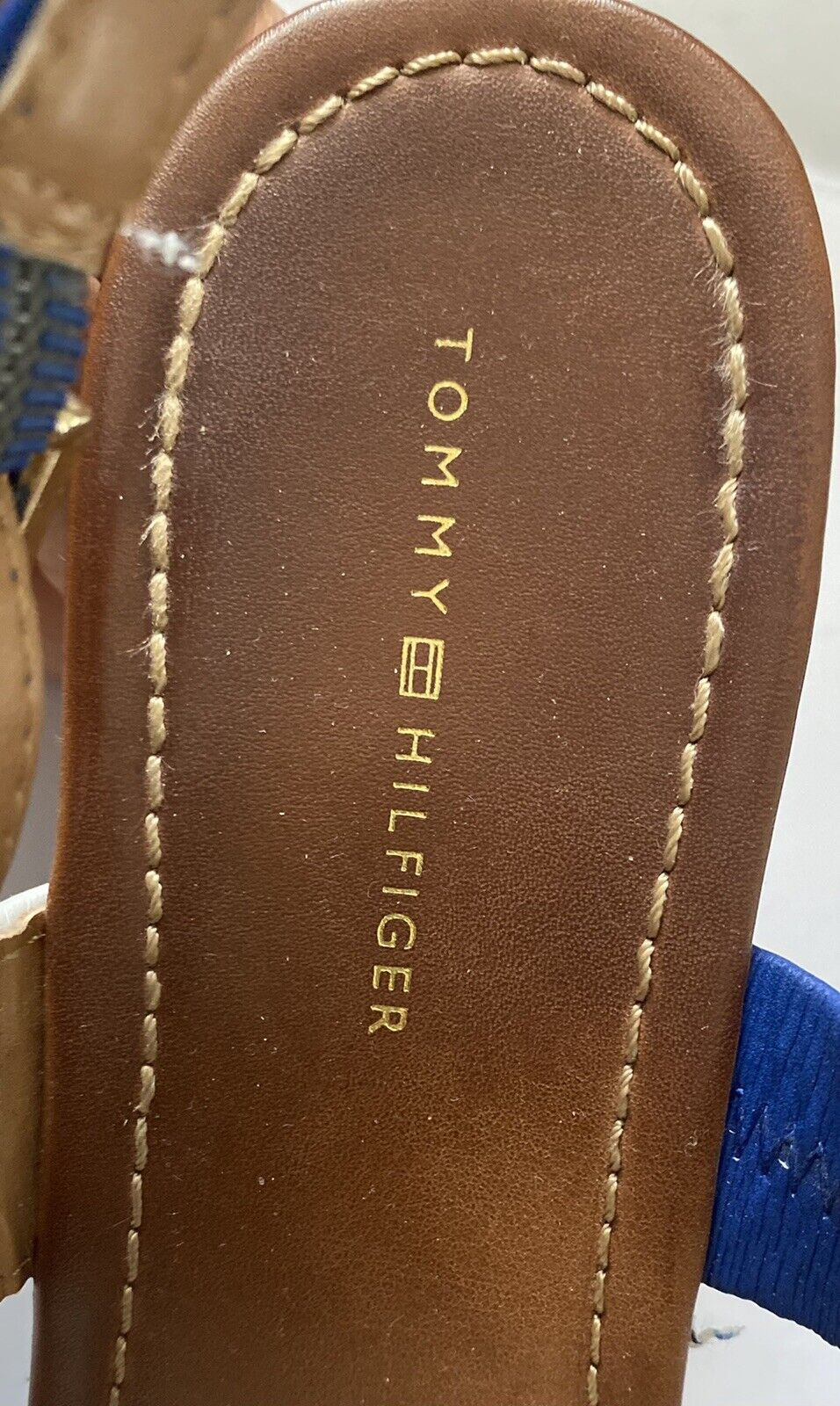 Tommy Hilfiger Women's Size 7.5 M Wedges Navy, - image 5