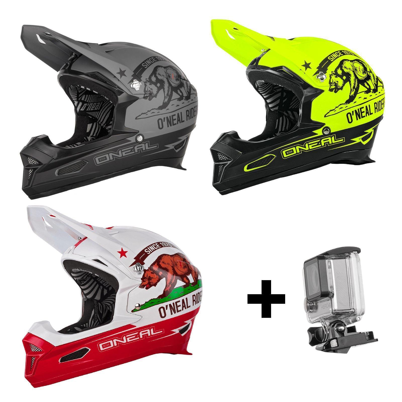 Oneal Fury RL casco California FullFace downhill DH MTB action cam mountainbike