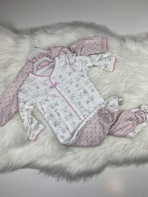 Starting Out Baby Girl 6M Pajamas Sleepers Footed Button ...