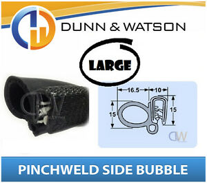 Details about Pinchweld Rubber Side Bubble Seal Large Water & dust  protection Camper Trailers