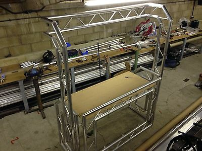 DJ Booth 1600x1150x700 Foldable, Mobile or Install, With Over Head Light Gantry