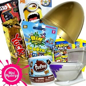 Garcons-brut-toy-bundle-7-jouets-Grossery-Gang-poopeez-chasse-force-mystere-Packs