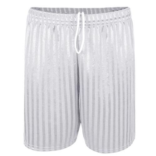 Homme ombre rayures élastique cordon de serrage à la taille football sports shorts taille