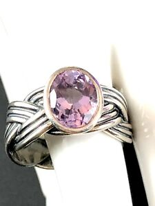 4b02c8018 Image is loading RARE-PANDORA-925-ALE-STERLING-SILVER-FACETED-AMETHYST-