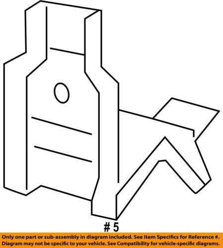 GM OEM-Radiator Upper Bracket 13256220