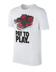3fec2de5bafa4c Nike Air Jordan S S PAY TO PLAY WHITE T-SHIRT 842249-100