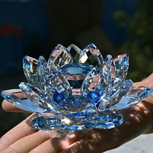 LARGE-BLUE-CRYSTAL-LOTUS-FLOWER-ORNAMENT-WITH-GIFT-BOX-CRYSTOCRAFT-HOME-DECOR