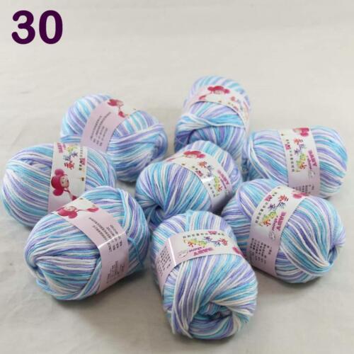 Sale lot 8 Skeins x50g Cashmere Silk Wool Children hand knitting Crochet Yarn 30