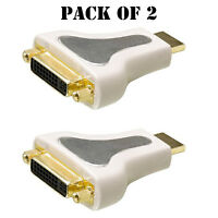 Pack Of 2 Philips Magnavox M62818 Male 19 Pin Type A Hdmi To Female Dvi Adapter