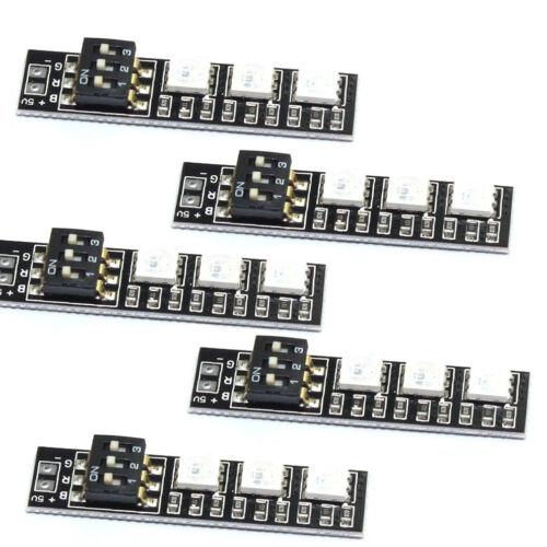 5pcs RGB 5050 LED Light Board 5V 3S 4S 7 Colors Switch for RC 250 Q250 FPV