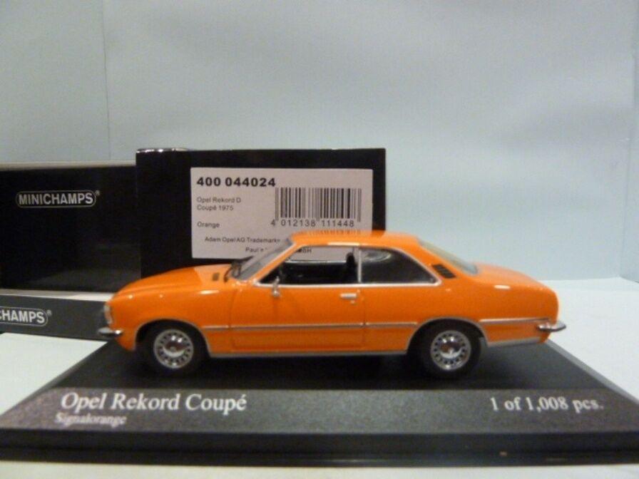 distribuzione globale OPEL REKORD D Coupé 1975 segnale arancia arancia arancia Minichamps 400044024 1 43 Geruomoia  le migliori marche vendono a buon mercato