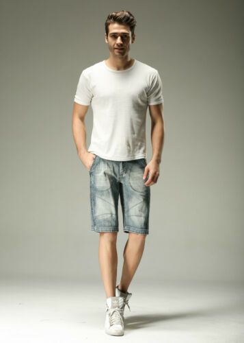 FOX JEANS Men/'s Walker Stylish Blue Denim Jeans Shorts SIZE 44