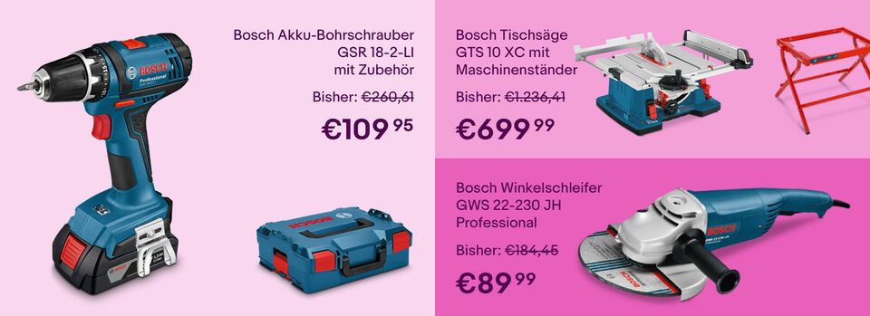 Bis zu -30% auf Werkzeug von Bosch – Zur Auswahl - Bis zu -30%* auf Werkzeug von Bosch