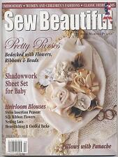 Titanic Ribbon Flower Vtg Purse Sew Beautiful 87 Mar Apr 2003 Magazine w Pattern