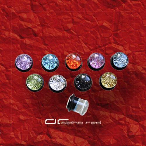 """/""""/""""/""""Glitter acrílico Plug piercing 4-16mm elección de color 4130"""