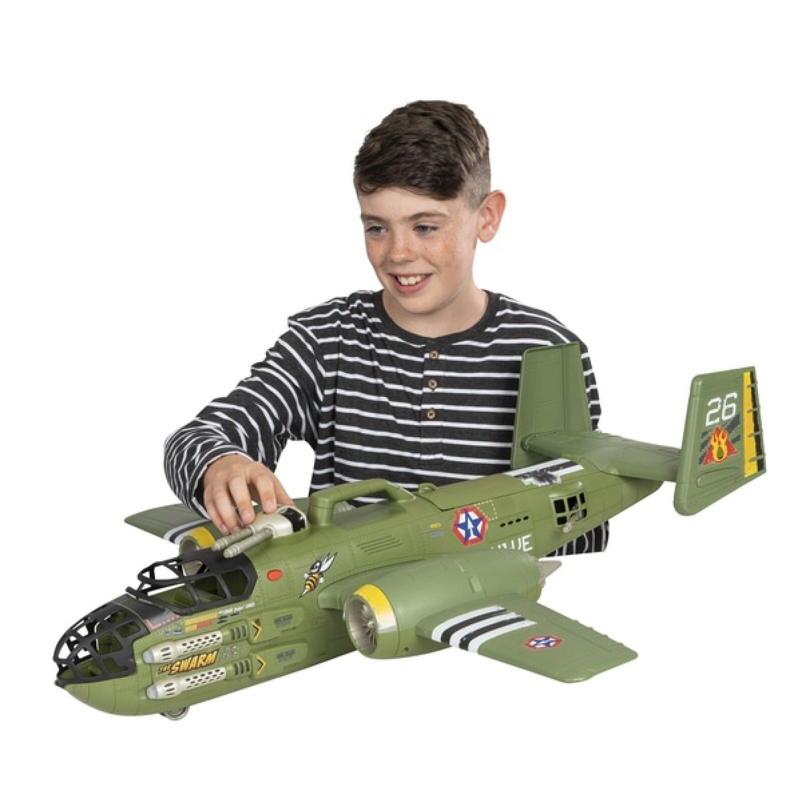 The Corps Elite Beast Bomber Super Command Transport Toy Aeroplane Lights Sounds
