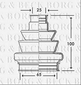 Borg-amp-Beck-BCB2777-Kit-de-Arranque-CV-CONJUNTA-se-ajusta-Opel-Opel-Interior-Nuevo-O-E-SPEC