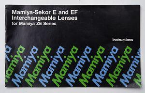 Bedienungsanleitung-Instructions-Mamiya-Sekor-E-and-EF-Lenses-Objektive